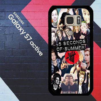 5 Seconds Of Summer 5Sos Collage Luke Hemmings V1355 Samsung Galaxy S7 Active Case
