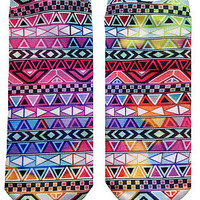 The Tribal Print Socks in Multi