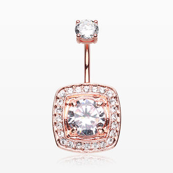 Rose Gold Grand Essentia Belly Button Ring