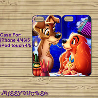 iphone 4 case,iphone 4s case,cute iphone 4 case,iphone 5 case,cute iphone 5 case,Lady And The Tramp,best friends case,in plastic,silicone.
