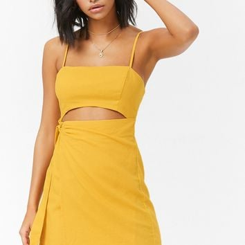 Wrap Cutout Mini Dress
