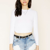 High-Neck Ribbed Crop Top | Forever 21 - 2000220023