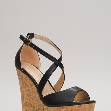 Cork It Strappy Platform Wedges