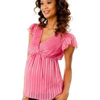 Motherhood Maternity: Short Sleeve Babydoll Maternity Blouse $19.99