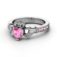 European Engagement Ring - Claddagh Ring