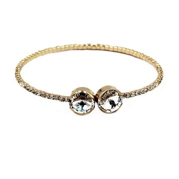 simple golden circlet crystal bracelet