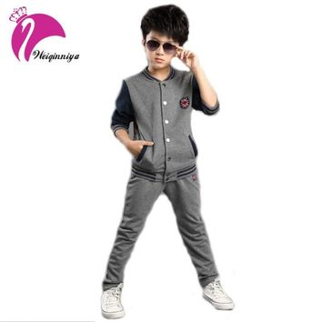 New Brand children's sports suit boys long sleeve clothing sets