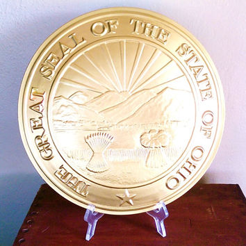 Great Seal of the State of Ohio large wall plaque ready for use in your classroom, office, display, library or anywhere else!