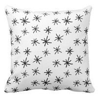 Hand Drawn Asterisk Star Print Throw Pillow