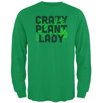 Gardening Crazy Plant Lady Mens Long Sleeve T Shirt