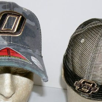NCAA Officially Licensed Oklahoma State Cowboys All-Star Apparel Camo Retro Stretch Pro-Pocket Baseball Hat Size M/L