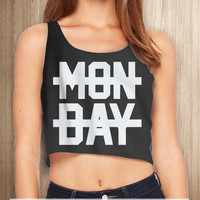 Niall Horan 1D Hate Monday Women Crop Tanktop - tri1 Crop Tanktop For Women  / Custom - Crop Tanktop
