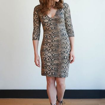 Sssneaky Snakeskin Dress - 2 Colors!