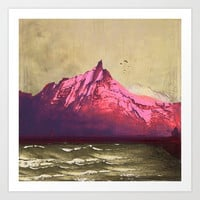 Sea.Mountains.Light . i. Art Print by anipani