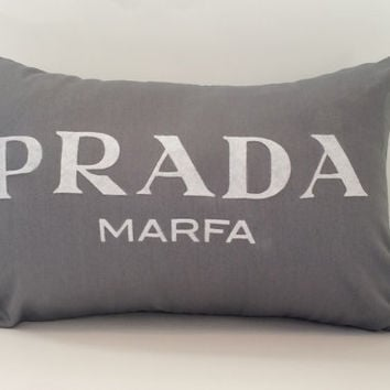 "18""X12"" Prada Marfa Pillow Cover"
