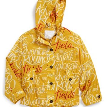 Girl's Burberry Waterproof Hooded Jacket
