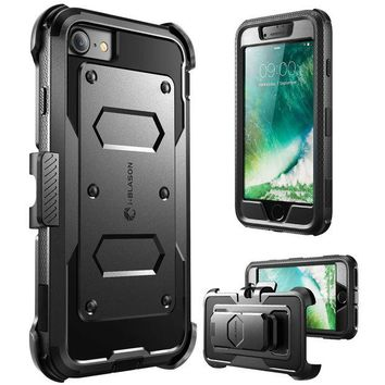 DCK4S2 iPhone 7 Case, iPhone 8 Case [Armorbox] i-Blason built in [Screen Protector] [Full body] [Heavy Duty Protection ] Shock Reduction / Bumper Case for Apple iPhone 7/iPhone 8 (Black)