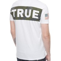 True Religion European True Camo Mens T-shirt - White