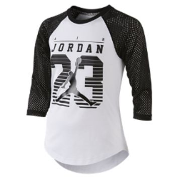 Jordan Flygirl Girls' Baseball T-Shirt, by Nike Size Medium (Black)