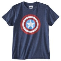 Captain America Men's Logo Graphic Tee - Blue
