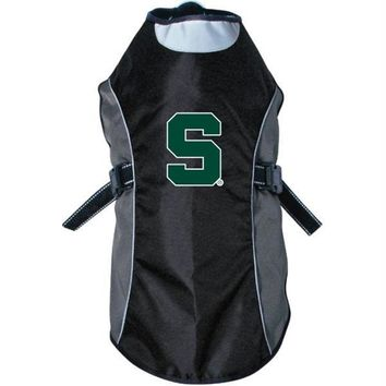 Michigan State Spartans Water Resistant Reflective Pet Jacket