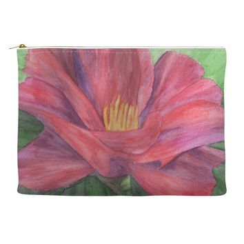 Unfoldment -  Accessory Pouch of Floral Watercolor Pencil Fine Art