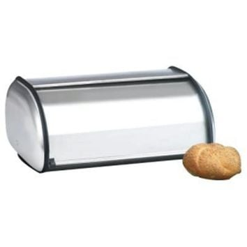 Brushed Steel Bread Box  Euro