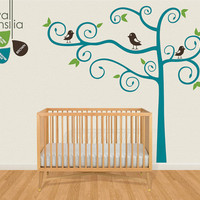 "Nursery Tree Wall Decal Wall Sticker - Tree Wall Decal - Tree Decals - Large: approx 84"" x 86"" - K016"