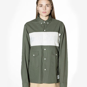 Oxford Button-Up Work Shirt in Army Olive: WMNS