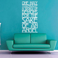 For the Sake of an Angel - Dr Who - Wall Vinyl - Medium