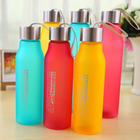 Water Bottle 800ml 600ml Plastic Sport Creative Frosted Shatterproof  Leak-proof  Water Bottle