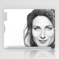 Dr. Cuddy-Lisa Edelstein-House MD-Portrait iPad Case by Olechka