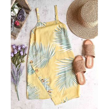 reverse - vacation on my mind sheer summer dress - mustard