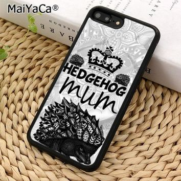 MaiYaCa Hedgehog mum cute illustration Phone Case Cover for iPhone 5 5s SE 6 6s 7 8 X XR XS max galaxy S5 S6 S7 edge S8 S9 Plus