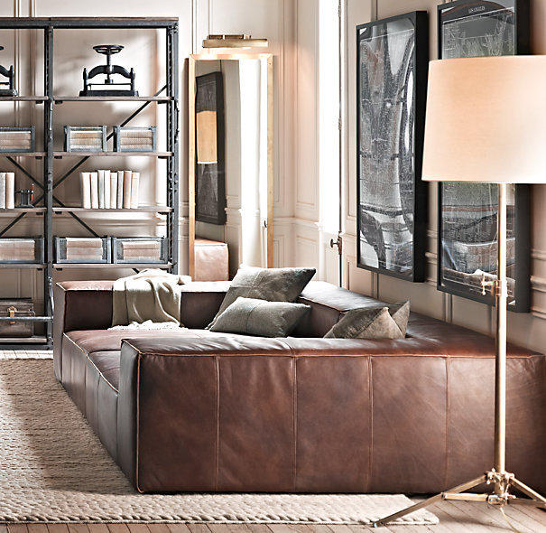 Fulham Leather Daybed From Restoration Hardware