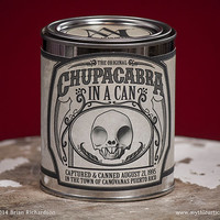 Chupacabra in a Can 3D Print Taxidermy Poseable Figure