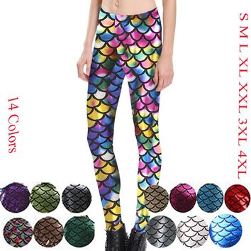Mermaid Scales Fishscale Leggings 14 Colors