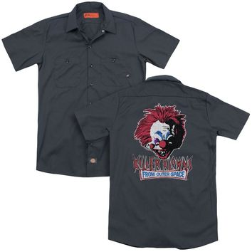 Killer Klowns From Outer Space - Rough Clown(Back Print) Adult Work Shirt