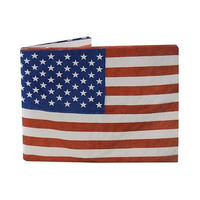 American Flag Patriotic Wallet Tyvek super strong audible