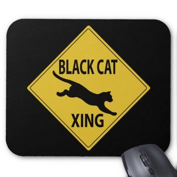 Black Cat Xing Mouse Pad