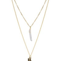 Marissa Arrow Necklace - One Size / Gold