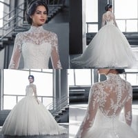 Cathedral Train Lace Wedding Dress