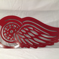 Detroit Red Wings, metal art, metal sign