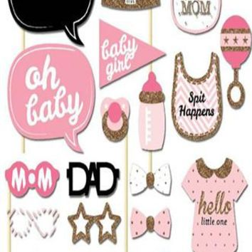 Oh Girl Photo Booth Props For Baby Shower - PRA131
