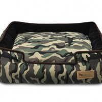 Camouflage Lounge Bed for Dogs