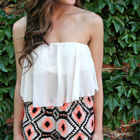 Summer Breeze Crop Top - Ivory