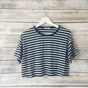 Mina Striped Tee (Black)
