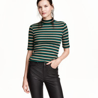 H&M Striped Mock Turtleneck Top $19.99
