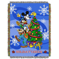 Mickey Spread Cheer  Woven Tapestry Throw (48inx60in)