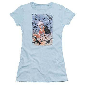 Jla - Wonder Woman #1 Short Sleeve Junior Sheer